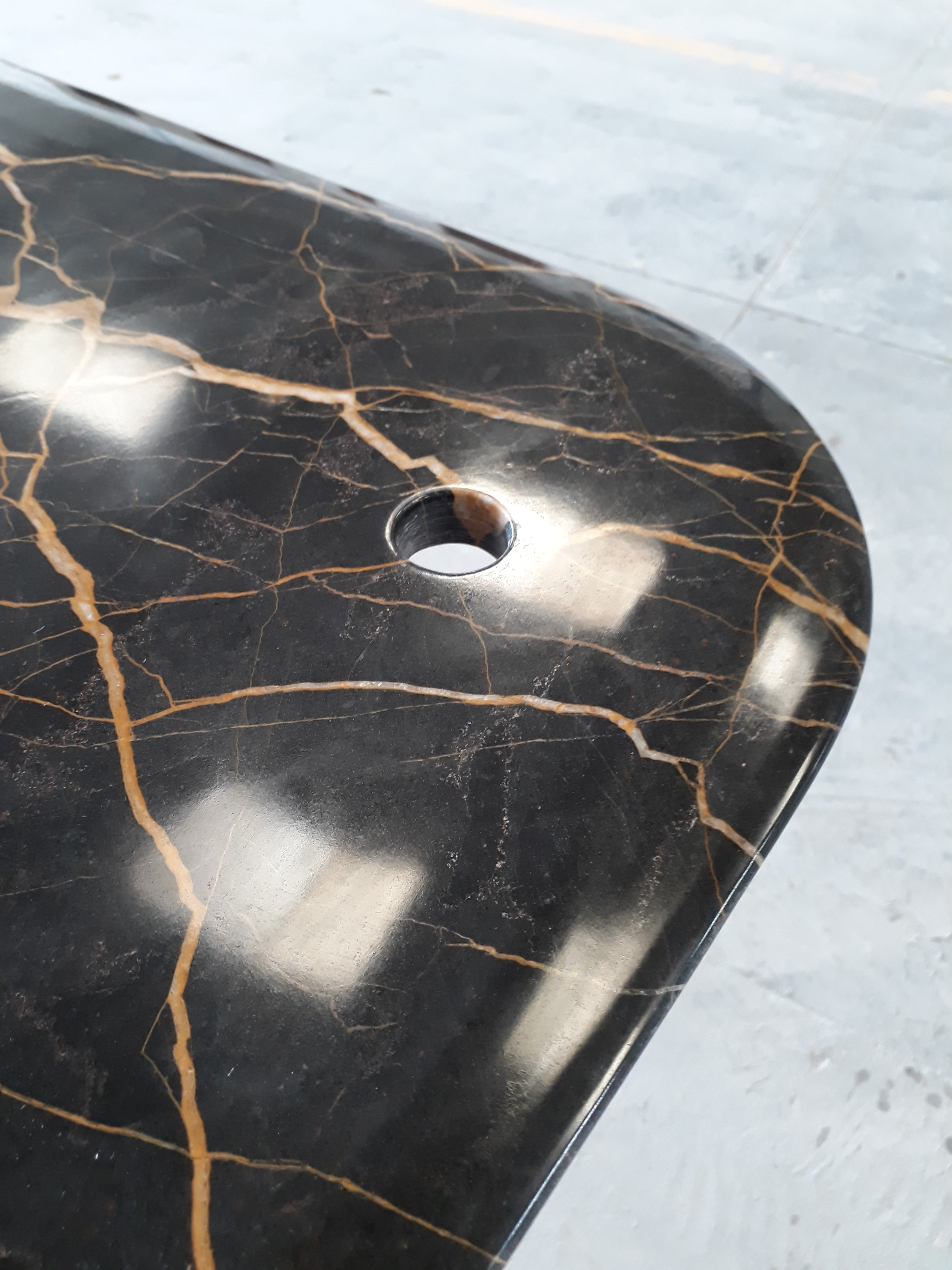 Noir Saint Laurent marble tailored table top
