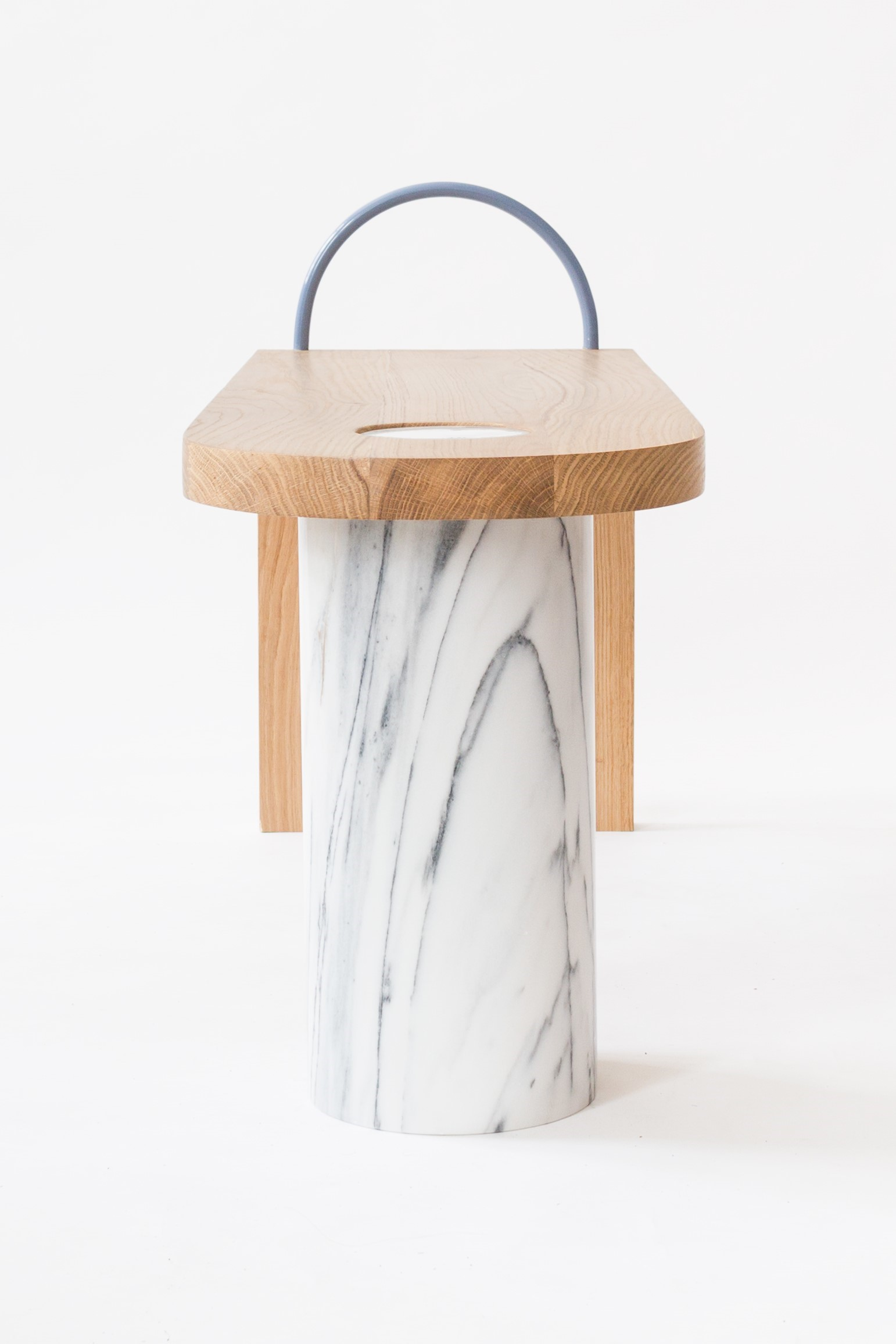 Aquatico marble bench feet