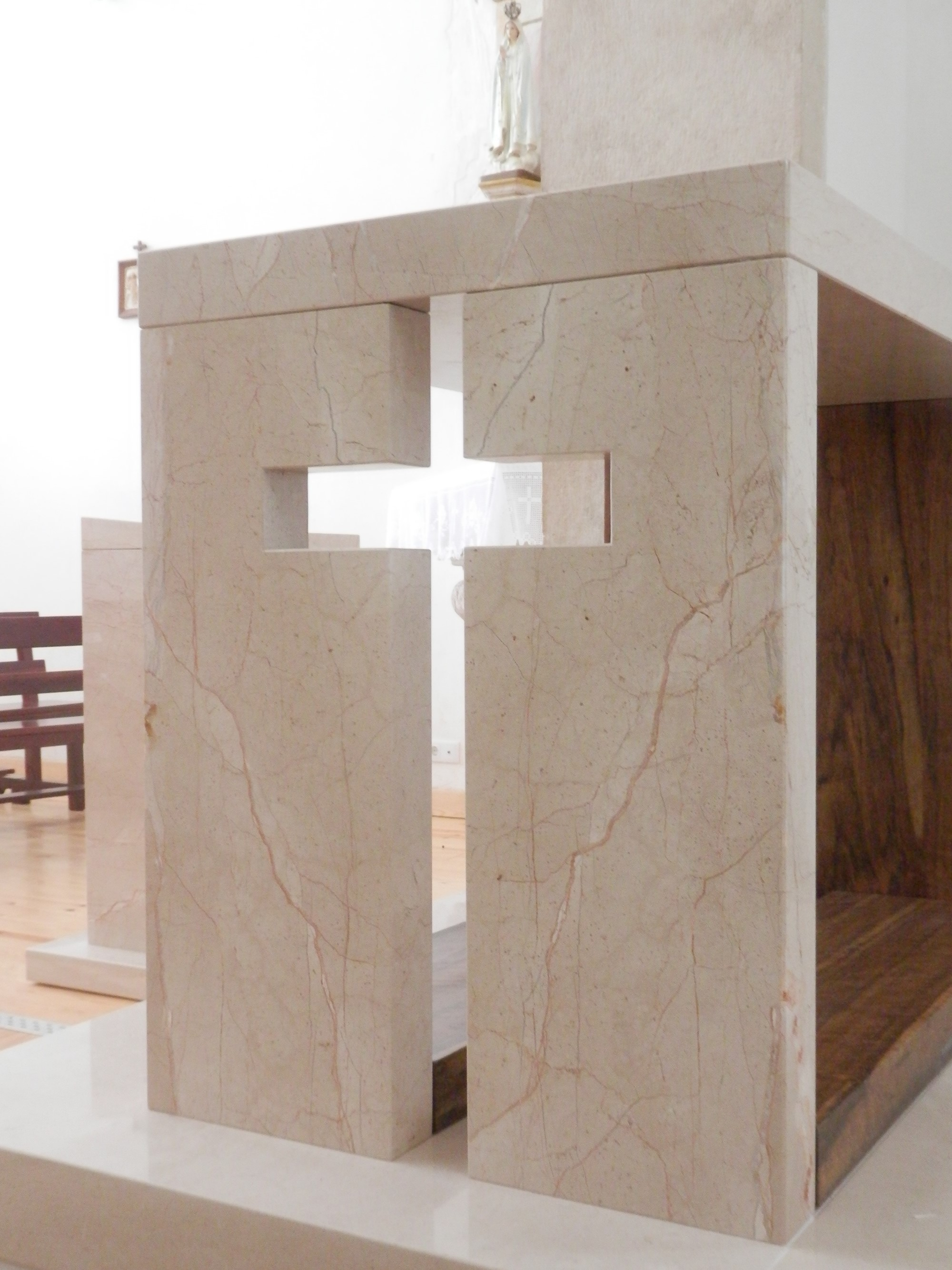 Alpenina limestone liturgical furniture