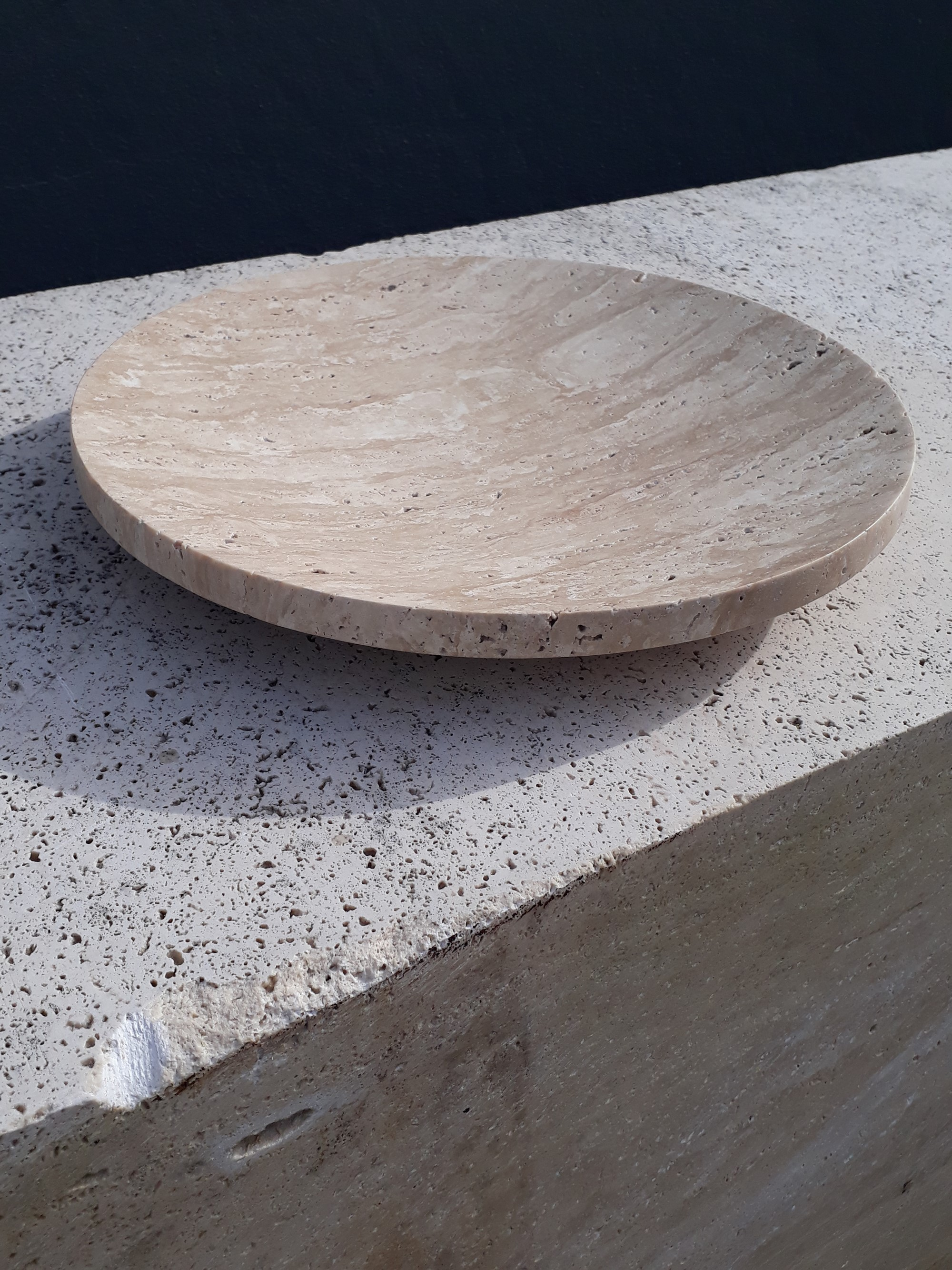 Beige Travertine bowl
